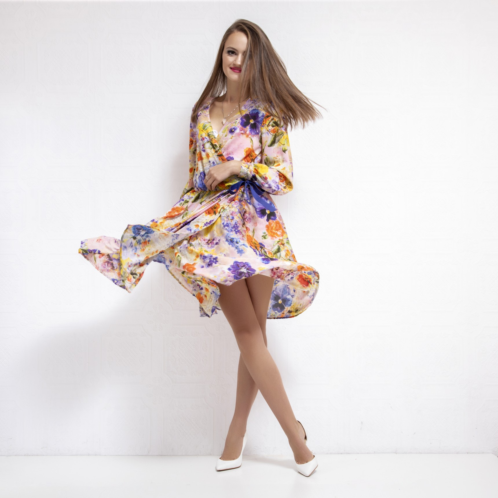 Fay Wrap Over Floral Dress